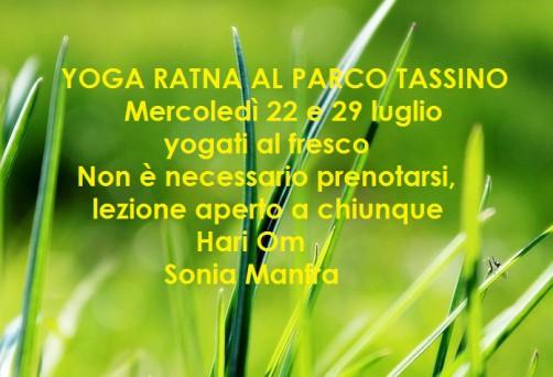 Yoga Ratna al Parco del Tassino
